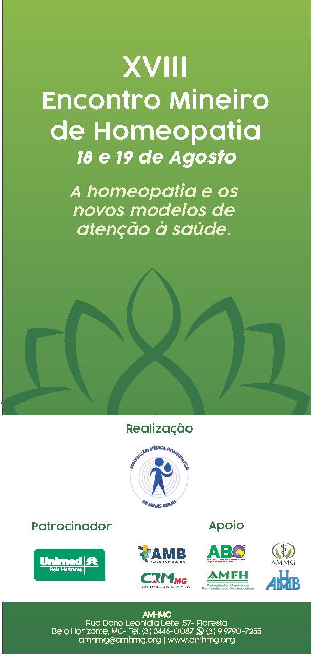 XVIII Encontro Mineiro de Homeopatia