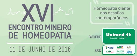 XVI Encontro Mineiro<br /> de Homeopatia